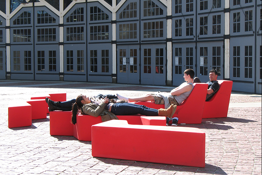 Nidus Benches at The Roundhouse